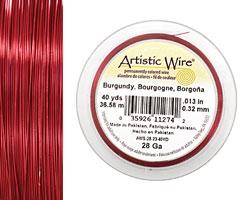 Artistic Wire Burgundy 28 gauge, 40 yards