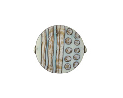 A Beaded Gift Copper Raku Tribe Coin 18mm