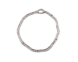 Zola Elements Antique Silver Finish Organic Circle Pendant 34mm