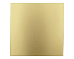 """Lillypilly Gold Anodized Aluminum Sheet 3""""x3"""", 22 gauge"""