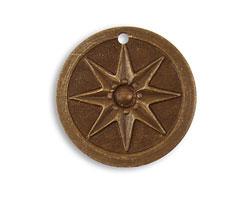 Vintaj Natural Brass Compass Star 21.5mm