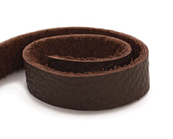 "TierraCast Cocoa Leather Strap 10"" x 1/2"""