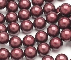 Black Cherry Shell Pearl Round 10mm