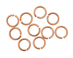 Antique Copper (plated) Round Jump Ring 8mm, 18 gauge
