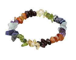 Chakra (Multi Stone) Chips Stretch Bracelet