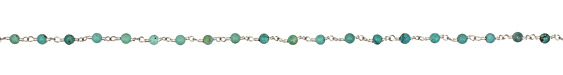 Turquoise Round Silver (plated) Bead Chain