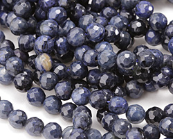 Dumortierite (dark) Faceted Round 6mm