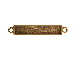 Nunn Design Antique Gold (plated) Itsy Rectangle Link 35x6mm
