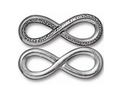 TierraCast Antique Pewter (plated) Infinity Link 32x12mm
