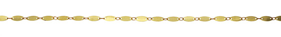 Zola Elements Flat Elongated Oval Link Brass Chain