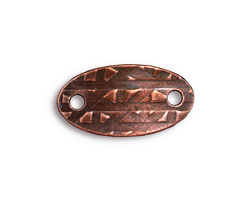 TierraCast Antique Copper (plated) Rock & Roll Oval Link 25x13mm