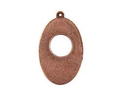 Nunn Design Antique Copper (plated) Flat Grande Oval Pendant 26x41mm