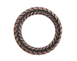 Greek Bronze (plated) Pewter Braided Ring 29mm