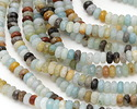 Black Gold Amazonite Faceted Rondelle 4mm