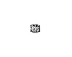 Zola Elements Antique Silver (plated) Floral Rice (large hole) 9x8mm