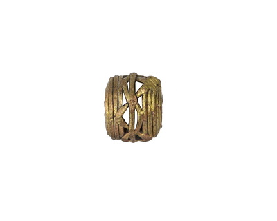 African Brass Lattice (large hole) Barrel 11-14x13-15mm