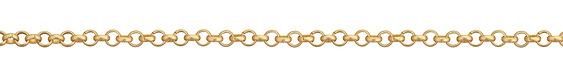 Satin Hamilton Gold (plated) Rollo Chain 25' spool