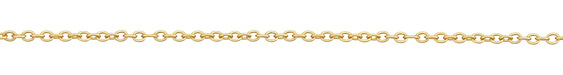 Satin Hamilton Gold (plated) Round Wire Cable Chain 25' spool