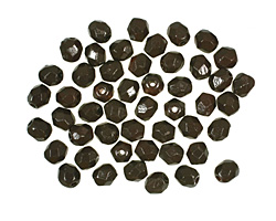 Czech Fire Polished Glass Coated Opaque Cocoa Round 4mm