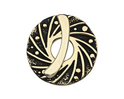 Saki Bronze Twirling Toggle Clasp 34mm