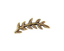 Nunn Design Antique Gold (plated) Left Leaf Toggle Bar 26x8mm