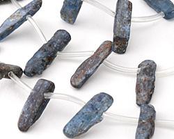 Kyanite (dark) Freeform Natural Drops 3-9x11-23mm