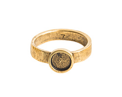 Nunn Design Antique Gold (plated) Hammered Itsy Circle Ring Size 7