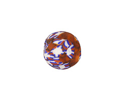 African Recycled Old Powder Glass Tomato Round Bead 11-13mm