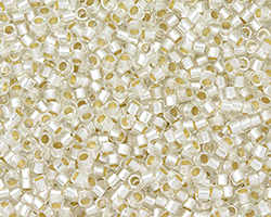 TOHO Aiko Matte Crystal (with silver lining) Precision Cylinder 11/0 Seed Bead