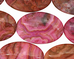 Ruby Crazy Lace Flat Oval 30x20mm