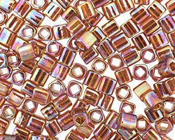 TOHO Transparent Rainbow Smoky Topaz Cube 4mm Seed Bead