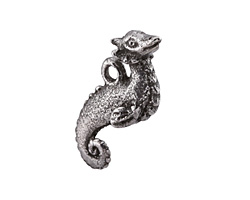 Green Girl Pewter Seahorse Creature 29x19mm