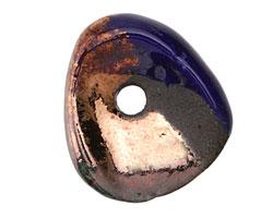 Greek Ceramic Raku Metallic Midnight Large Washer 24-29mm