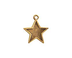 Nunn Design Antique Gold (plated) Mini Star Charm 16x18mm
