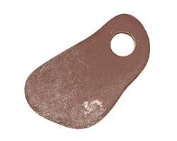 Purple/Plum Beach Stone Pendant 11-22x22-38mm