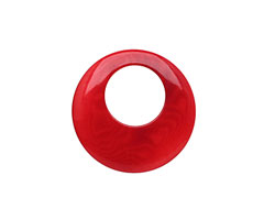 Tagua Nut Red Gypsy Hoop 25mm