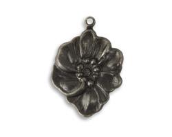 Vintaj Arte Metal Nouveau Floret Pendant 19x27mm