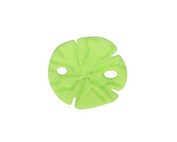 Olive Recycled Glass Sand Dollar 20mm