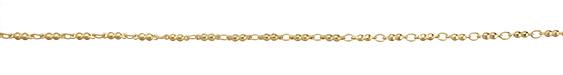Satin Hamilton Gold (plated) Double Ball Chain