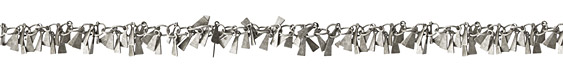 Antique Silver (Plated) Triangle Drop Chain