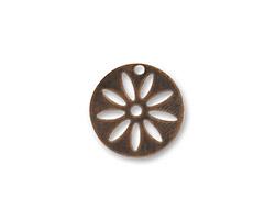 Vintaj Natural Brass Round Flower Stencil 16mm