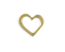 Vintaj Antique Brass (plated) Asymmetrical Heart Ring Blank 24x23mm