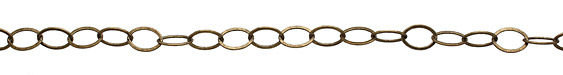 Antique Brass (plated) Flat Oval Chain