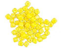 Czech Glass Lemon Cube 3mm