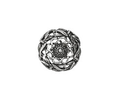 Pewter Shield Button 18mm