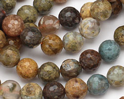 Autumn Agate Faceted Round 10mm