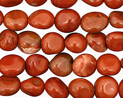Red Jasper Tumbled Nugget 7-11x7-9mm