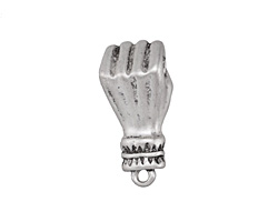 Zola Elements Antique Silver (plated) Figa Fist Focal 11.5x25mm