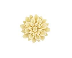 Opaque Ivory Lucite Dahlia Flower Cabochon 16mm