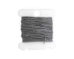 Slate Grey Irish Waxed Linen 3 ply